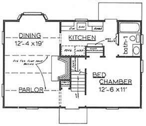 Gambrel house plans rockwell house mitchell ginn for Gambrel floor plans