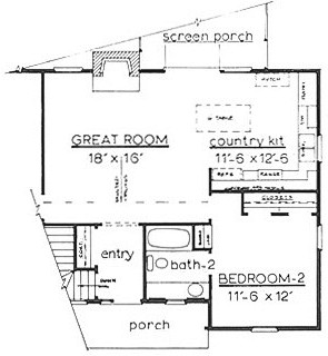 Country Home Plan F-1104